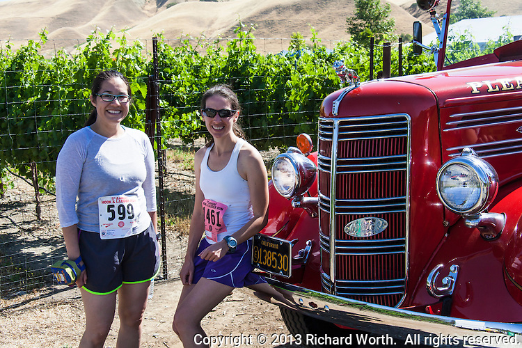 The Hook and Ladder run at the Wente Winery in Livermore, CA supports injured and fallen Firefighters, Burn Foundation and Local Charities in the Tri Valley .