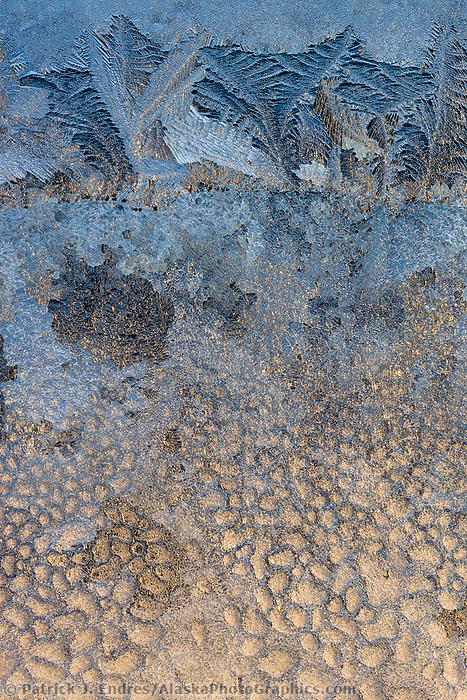 Window frost, Fairbanks, Alaska