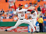 12 June 2006: Ramon Ortiz, pitcher for the Washington Nationals, on the mound  against the Colorado Rockies at RFK Stadium, in Washington, DC. The Nationals fell to the Rockies 4-3 in the first game of the four game series...Mandatory Photo Credit: Ed Wolfstein Photo..