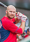 10 March 2015: Washington Nationals first baseman Clint Robinson stands ready in the dugout during Spring Training action against the Miami Marlins at Roger Dean Stadium in Jupiter, Florida. The Marlins edged out the Nationals 2-1 on a walk-off solo home run in the 9th inning of Grapefruit League play. Mandatory Credit: Ed Wolfstein Photo *** RAW (NEF) Image File Available ***
