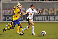 Heather O'Reilly...USWNT tied Sweden 1-1 at Morrison Stadium, Omaha Nebraska.
