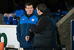 St Johnstone v Partick Thistle&hellip;02.03.16  SPFL McDiarmid Park, Perth<br />Tommy Wright and Alan Archibald talk to each other before kick off<br />Picture by Graeme Hart.<br />Copyright Perthshire Picture Agency<br />Tel: 01738 623350  Mobile: 07990 594431