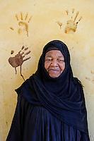 Kupa, Nubian woman at her home   <br /> Betlekerem, Aswan, Egypt 2009 .