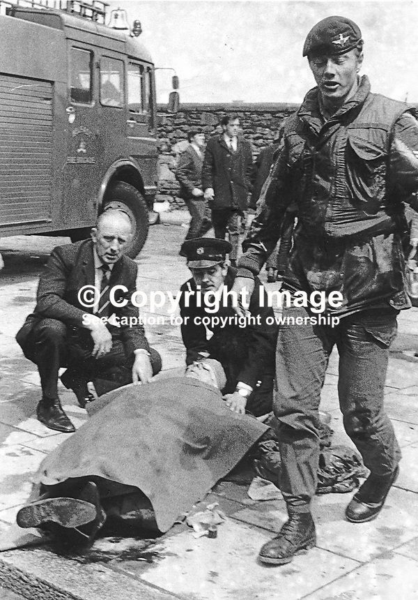 Emergency Treatment For Victim Of Provisional IRA Car Bomb