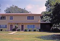 Clarence S. Stein: Baldwin Hills Village, elevation, apartment unit--Robert Alexander, Reginald Johnson. Photo '84.