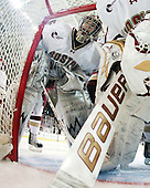 Parker Milner (BC - 35) - The Boston College Eagles defeated the visiting University of New Hampshire Wildcats 4-0 while celebrating senior night on Friday, March 4, 2011, at Conte Forum in Chestnut Hill, Massachusetts.