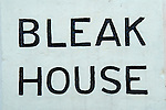 Broadstairs Kent Uk. Name sign on wall outside Bleak House.