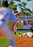 7 March 2009: New York Mets' infielder Andy Green completes a double-play during a Spring Training game against the Washington Nationals at Tradition Field in Port St. Lucie, Florida. The Nationals defeated the Mets 7-5 in the Grapefruit League matchup. Mandatory Photo Credit: Ed Wolfstein Photo