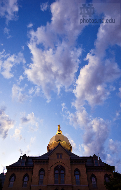 Low angle dusk of Dome and clouds, May 2009.<br /> <br /> Photo by Matt Cashore/University of Notre Dame