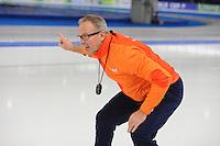 SCHAATSEN: BERLIJN: Sportforum Berlin, 05-12-2014, ISU World Cup, Geert Kuiper (coach Team Nederland), ©foto Martin de Jong