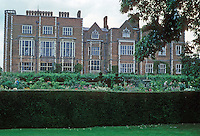 Hertfordshire: Hatfield House, 1607-1611. West elevation. (Home of the Marquess of Salisbury who charges stiff prices for visits.) Photo '90.