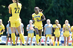 30 August 2013: Kennesaw State's Ivani Hughes (23). The Duke University Blue Devils played the Kennesaw State University Owls at Fetzer Field in Chapel Hill, NC in a 2013 NCAA Division I Women's Soccer match. Duke won 1-0.