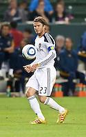 CARSON, CA – June 11, 2011: LA Galaxy midfielder David Beckham (23) during the match between LA Galaxy and Toronto FC at the Home Depot Center in Carson, California. Final score LA Galaxy 2, Toronto FC 2.