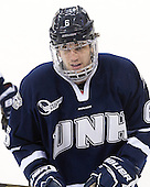 Trevor van Riemsdyk (UNH - 6) - The Boston College Eagles and University of New Hampshire Wildcats tied 4-4 on Sunday, February 17, 2013, at Kelley Rink in Conte Forum in Chestnut Hill, Massachusetts.