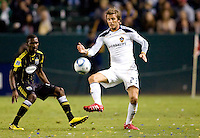 LA Galaxy midfielder David Beckham enters the match after a long layoff due to injury. The LA Galaxy defeated the Columbus Crew 3-1 at Home Depot Center stadium in Carson, California on Saturday Sept 11, 2010.