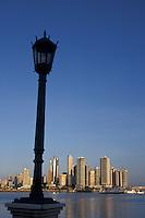 Panama Bay and the skyline of Modern Panama City, Panama