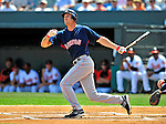14 March 2009: Boston Red Sox' designated hitter Rocco Baldelli at bat during a Spring Training game against the Baltimore Orioles at Fort Lauderdale Stadium in Fort Lauderdale, Florida. The Orioles defeated the Red Sox 9-8 in the Grapefruit League matchup. Mandatory Photo Credit: Ed Wolfstein Photo
