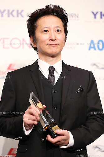 Japanese cartoonist Hirohiko Araki attends the 45th annual Best Dresser Awards ceremony in Tokyo, Japan on November 30, 2016. (Photo by Shingo Ito/AFLO)