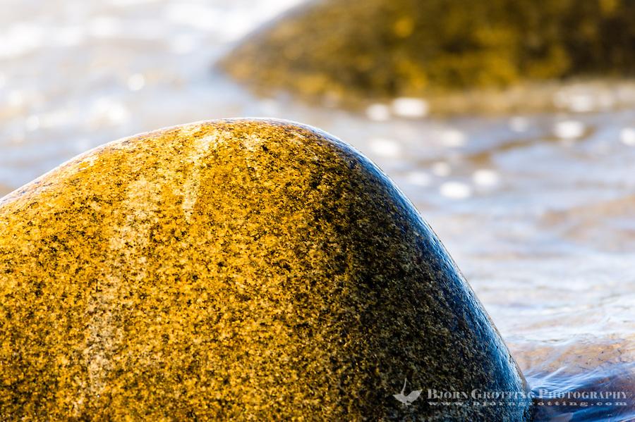 Norway, Klepp. Rock, sea and waves, Sele