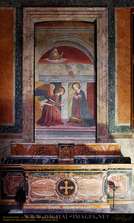 Annunciation Melozzo da Forli 1484 Pantheon Campus Martius Rome