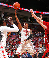 Ohio State Buckeyes guard Raven Ferguson (31) gets an open shot in first half action at Value City Arena on February 20,  2014. (Chris Russell/Dispatch Photo)