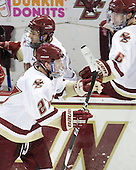 Patch Alber (BC - 27) - The Boston College Eagles defeated the visiting University of Vermont Catamounts 6-0 on Sunday, November 28, 2010, at Conte Forum in Chestnut Hill, Massachusetts.