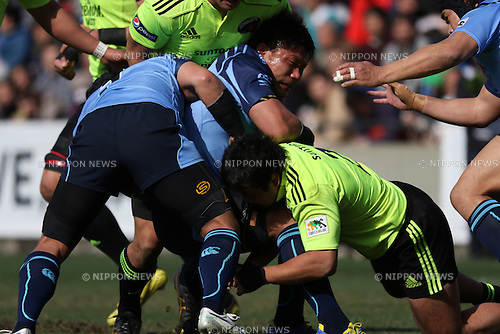 Kyosuke Horie (Jubilo),<br /> FEBRUARY 28, 2015 - Rugby : The 52nd Japan Rugby Football Championship match between Yamaha Jubilo15-3 Suntory Sungoliath at Prince Chichibu Memorial Stadium, Tokyo, Japan. (Photo by Jun Tsukida/AFLO SPORT) [4061]