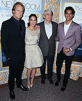 LOS ANGELES, CA, USA - NOVEMBER 04: Jeff Daniels, Olivia Munn, Sam Waterston, Dev Patel arrive at the Los Angeles Season 3 Premiere Of HBO's Series 'The Newsroom' held at the DGA Theatre on November 4, 2014 in Los Angeles, California, United States. (Photo by Xavier Collin/Celebrity Monitor)