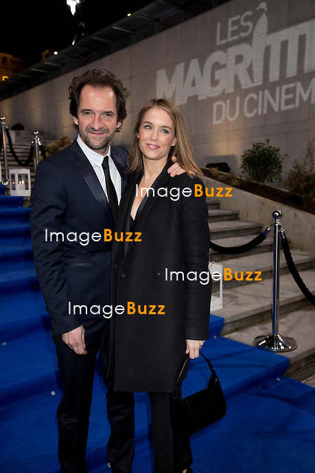 St&eacute;phane Degroodt et son amie assisttent &agrave; la 4&egrave;me C&eacute;r&eacute;monie des Magritte du Cin&eacute;ma, au Square &agrave; Bruxelles.<br /> Belgique, Bruxelles, 1/02/2014<br /> <br /> St&eacute;phane Degroodt attends the fourth edition of the Magritte du Cinema Awards Ceremony, at the Square in Brussels.<br /> Belgium, Brussels, February 1st, 2014.