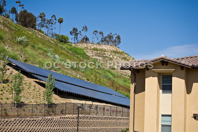 Solar Panels On Hillside | SoCal Stock Photos & OC Stock Photos
