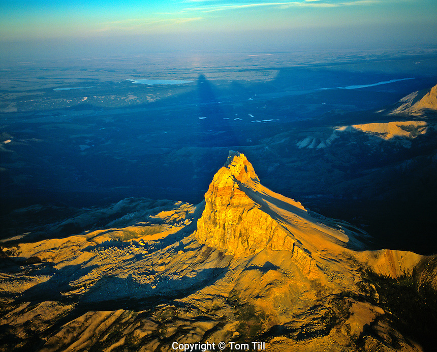 Chief Mountain at sunset  Glacier National Park, Montana  Rocky Mountains  Sacred Mountains to the Blackfeet Indians  USA/Canada border  July