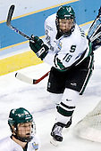 Tyler Howells (Michigan State - Eden Prairie, MN) - The Michigan State Spartans defeated the University of Maine Black Bears 4-2 in their 2007 Frozen Four semi-final on Thursday, April 5, 2007, at the Scottrade Center in St. Louis, Missouri.