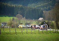 Liege-Bastogne-Liege 2012.98th edition..leaders up the Cote de Wanne