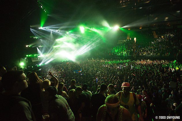 Photos of EDM artist Bassnectar performing at the Chaifetz Arena in St. Louis on October 6, 2012.