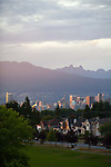 The View of Downtown Vancouver, B.C. from Nat Bailey Stadium