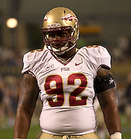 Florida State defensive tackle Justin Shanks. Florida State defeated Pitt 41-13 at Heinz Field on September 2, 2013.