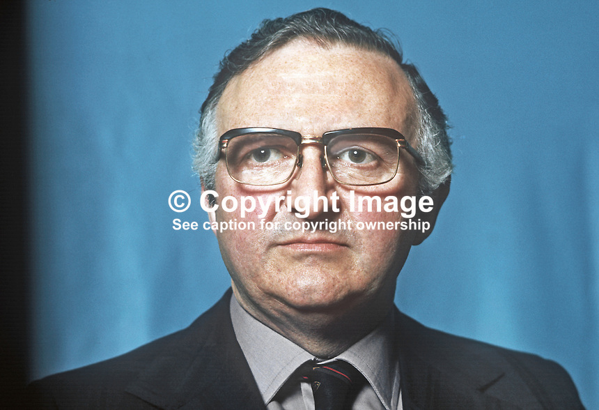 Basil Glass, Alliance Party of N Ireland, APNI, candidate, South Belfast, 1975 N Ireland Convention election. 197505000425.<br /> <br /> Copyright Image from Victor Patterson, 54 Dorchester Park, Belfast, UK, BT9 6RJ<br /> <br /> t1: +44 28 9066 1296<br /> t2: +44 28 9002 2446<br /> m: +44 7802 353836<br /> <br /> <br /> e1: victorpatterson@me.com<br /> e2: victorpatterson@gmail.com<br /> <br /> www.victorpatterson.com<br /> <br /> IMPORTANT: Please see my Terms and Conditions of Use at www.victorpatterson.com
