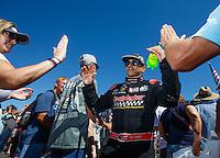 Jul 31, 2016; Sonoma, CA, USA; NHRA top fuel driver J.R. Todd during the Sonoma Nationals at Sonoma Raceway. Mandatory Credit: Mark J. Rebilas-USA TODAY Sports
