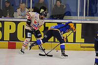 IJSHOCKEY: EINDHOVEN: IJssportcentrum, 11-01-2015, Bekerfinale Destil Trappers Tilburg - UNIS Flyers Heerenveen, Tony Demelinne (#21   Heerenveen), ©foto Martin de Jong