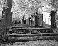 Infrared Photos of Greyfriars Kirkyard - Cemetery, Edinburgh, Scotland