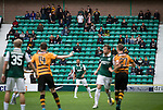 Hibernian 3 Alloa Athletic 0, 12/09/2015. Easter Road stadium, Scottish Championship. The 79 visiting fans watching the second-half action at Easter Road stadium during the Scottish Championship match between Hibernian and visitors Alloa Athletic. The home team won the game by 3-0, watched by a crowd of 7,774. It was the Edinburgh club's second season in the second tier of Scottish football following their relegation from the Premiership in 2013-14. Photo by Colin McPherson.