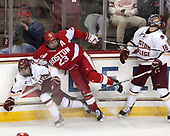 Matthew Gaudreau (BC - 21), Jakob Forsbacka Karlsson (BU - 23), Colin White (BC - 18) - The visiting Boston University Terriers defeated the Boston College Eagles 3-0 on Monday, January 16, 2017, at Kelley Rink in Conte Forum in Chestnut Hill, Massachusetts.