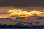 Sunset over Svalbard, Norway