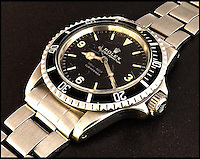 BNPS.co.uk (01202 558833)<br /> Pic: GardinerHoulgate/BNPS<br /> <br /> Dial M for Money...Incredibly rare '3-6-9'  dial on this old Rolex means its worth a mint.<br /> <br /> An incredibly rare 53 year old Rolex diver's watch that has been used in seas around the world is now tipped to sell for &pound;100,000 - 500 times what it was bought for.<br /> <br /> The owner from Kent, who has not been named, bought the Rolex Oyster Perpetual Submariner watch secondhand in 1974 to help him with his BSAC diving qualifications for about &pound;200.<br /> <br /> He took it with him on dives in the Mediterranean, Red Sea, Indian Ocean, Caribbean and the Great Barrier Reef and wore the watch regularly right up until last year.<br /> <br /> But despite being worn for four decades, the watch is in remarkably good condition and is expected to fetch six figures when it is sold by auctioneers Gardiner Houlgate on February 22.