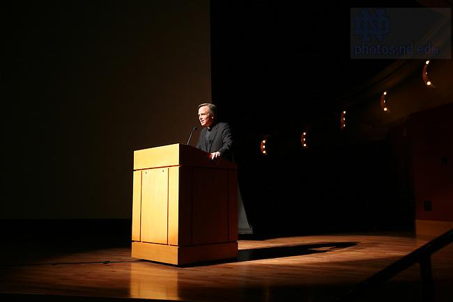 Fr. Jenkins speaking at Freshman Orientation
