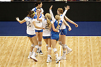 SAN ANTONIO, TX - DECEMBER 15, 2011: The 2011 NCAA Division I Women's Volleyball Championship National Semifinal #1 featuring the University of California, Los Angeles Bruins vs. the Florida State University Seminoles at the Alamodome. (Photo by Jeff Huehn)