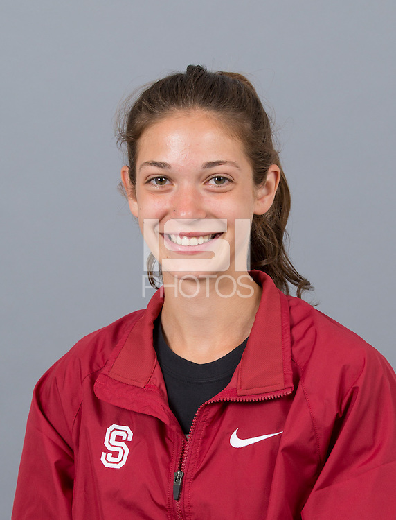 STANFORD, CA - SEPTEMBER 24, 2014--Claire Howlett, with Stanford University Cross Country Team