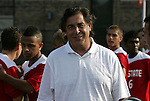 04 September 2009: NC State head coach George Tarantini. The North Carolina State University Wolfpack defeated the University of Denver Pioneers 4-0 at Koskinen Stadium in Durham, North Carolina in an NCAA Division I Men's college soccer game.