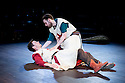 London, UK. 12.06.2014. Bear Trap theatre Company present ENDURING SONG at Southwark Playhouse. Picture shows: Tom Roe (Matthew) and Daniel Foxsmith (Georges). Photograph © Jane Hobson.