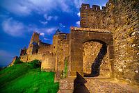 Porte d'Aude, La Cite, the medieval city of Carcassonne, France.